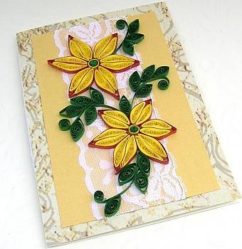 Квиллинг открытка ручной работы