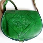 """Кожаная сумка  """"Green Nakhla """" (уценка).  Показать только товары из Китай."""