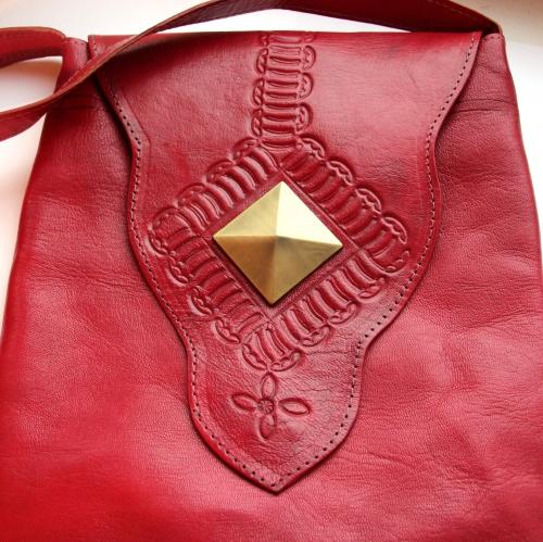 """Кожаная сумка  """"Kasbah """" Марокко."""
